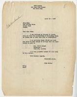 Otto Nathan to Miss Nike, 19 Apr 1938