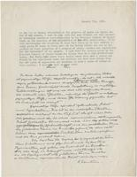 Typed, autographed manuscript signed regarding the National Council of Jewish Women, 7 Jan 1938