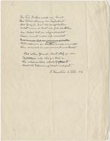 Twelve line poem written in honor of Helene Dukas, 3 Aug 1942
