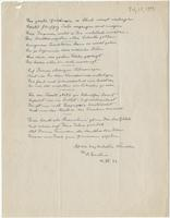 Twenty line birthday poem possibly for Otto Nathan, 14 July 1943
