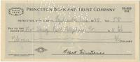 Check signed in full by Albert Einstein to New Jersey Bell Telephone Co., 2 Sep 1948