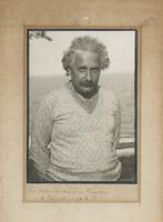 Albert Einstein in a v-neck sweater, 17 Oct 1928